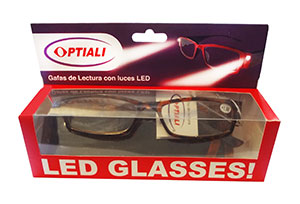 Gafas de lectura con luces LED