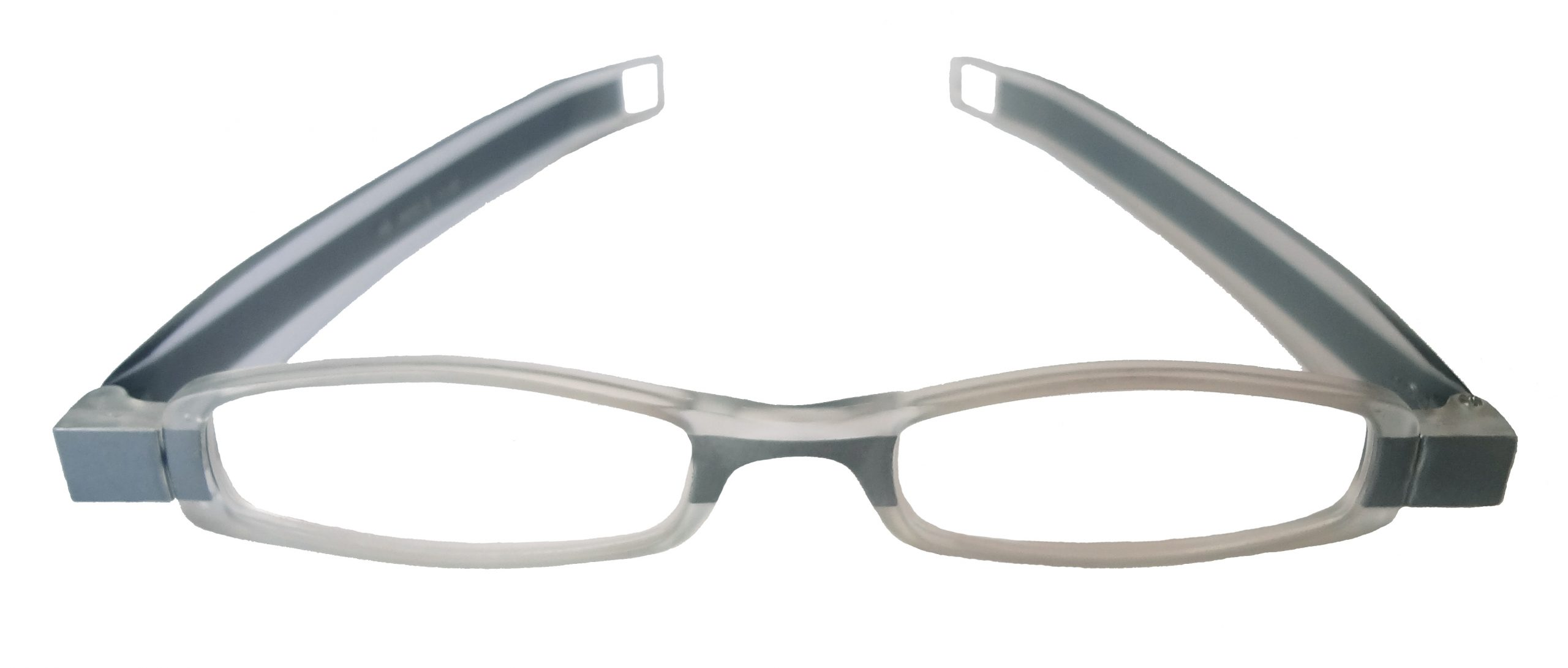 Gafas de lectura de farmacia robot gris